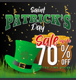 realistic st patricks day background and sale vector image