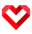 red heart icon love icon vector image vector image
