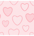seamless lace pattern with hearts vintage textile vector image