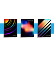 set abstract design posters with colorful vector image vector image