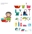 Set of objects for cleaning the house vector image vector image