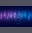 sound waveform blue technology style background vector image