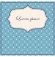 Stars and polka dot blue background with banner vector image