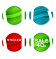 stickers elements vector image vector image