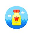 Sunscreen icon Summer Vacation vector image vector image