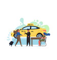 taxi service flat style design vector image