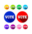 various vote icon colors graphic design vector image vector image