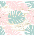 vintage tropical worn pattern vector image vector image
