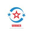 winner progress - logo template concept vector image vector image