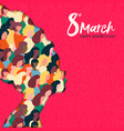 womens day 8th march african woman head card vector image vector image