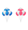 Balloons for boy and girl vector image