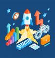 business startup isometric template vector image