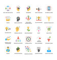 a pack of project management flat icons vector image vector image