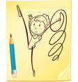 A simple drawing of a gymnast vector image vector image