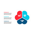 abstract flat elements cycle diagram with 3 vector image vector image