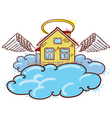 angel house color version vector image