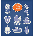 Baby icons paper cut style vector image vector image
