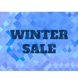 background with winter sale text Low poly vector image vector image