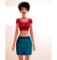 Beautiful coquette lady full body portrait of a vector image vector image