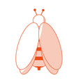 bee insect icon image vector image