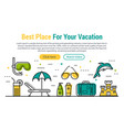 best vacation - rectangular site header vector image vector image