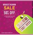 biggest fashion sale social media post vector image vector image