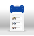 blue online movie shop ui ux gui screen for vector image vector image