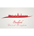Bradford skyline in red vector image vector image
