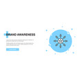 brand awareness icon banner outline template vector image vector image