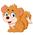 Cartoon adorable dog sitting vector image