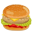 Chicken Burger on white background vector image vector image