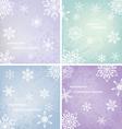 Christmas Snowflakes Card vector image vector image