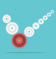 cogs forming check mark vector image vector image