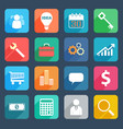 colorful business icons set vector image vector image