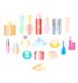 cosmetics make-up beauty accessories vector image vector image