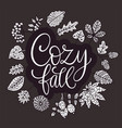cozy fall autumn vector image