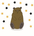 cute hand drawn cartoon bear vector image