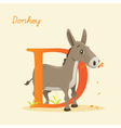 D for donkey vector image