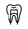 dental tooth stomatology thin line icon vector image vector image