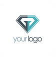 diamond abstract logo vector image vector image