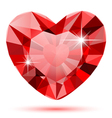 Diamond heart isolated
