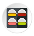 different sushi icon circle vector image vector image