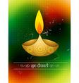 diwali festival design vector image vector image