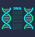 dna poster with headline vector image vector image