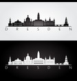 dresden skyline and landmarks silhouette vector image vector image