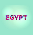 egypt concept colorful word art vector image vector image