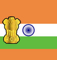 flag and emblem of india vector image