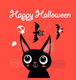 funny cat for halloween vector image vector image