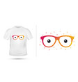 glasses for t shirt printing design tee graphic vector image