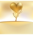 Gold valentines tree card EPS8 vector image